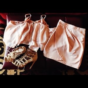 NWOT Blush Pink skirt with slit